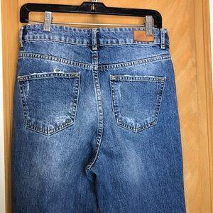 Zara Jeans - Zara Blue Distressed Denim Size 6